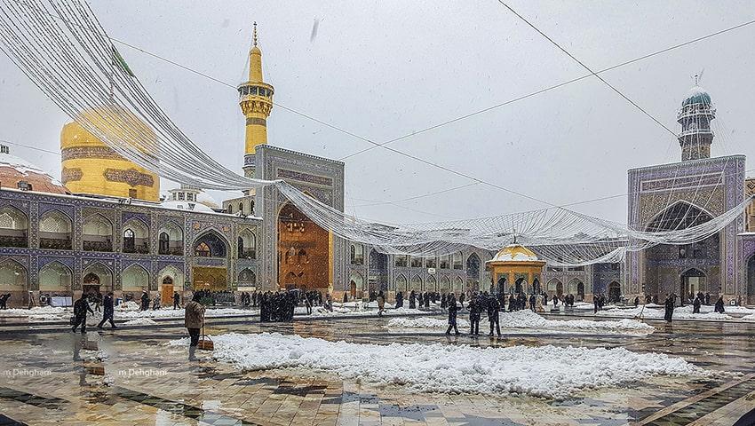 سفر زمستانی به مشهد