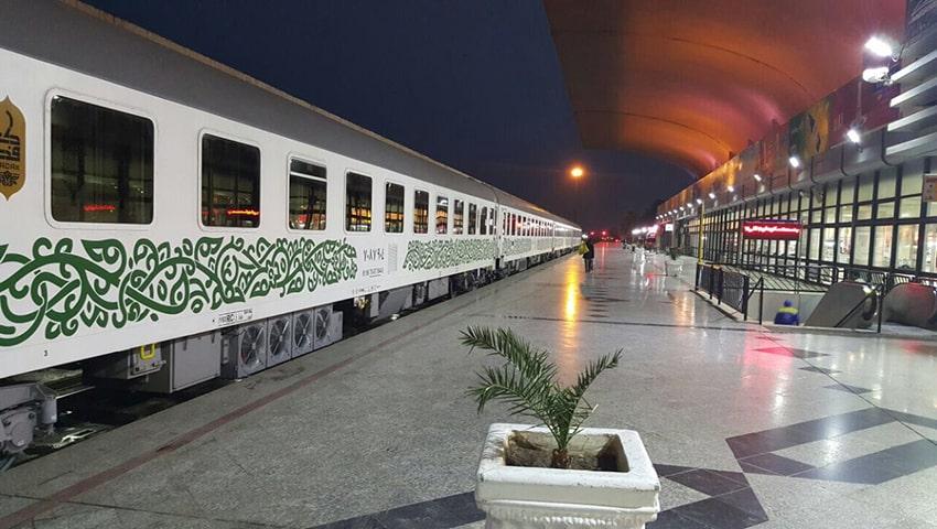 بلیط قطار مسیر تهران مشهد