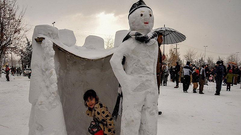طرقبه مشهد در زمستان، یکی از جاهای دیدنی مشهد در زمستان