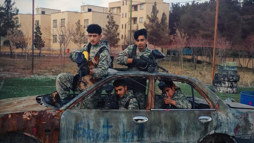فضای شبه نظامی برای باشگاه پینت بال مشهد