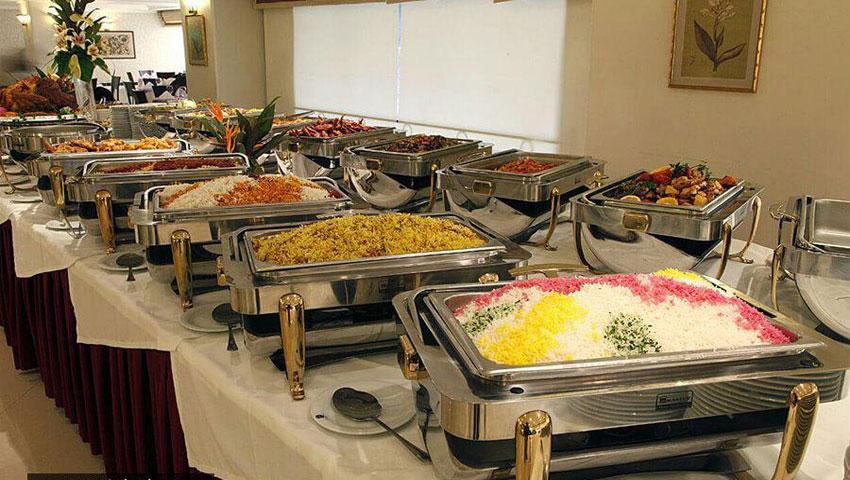 غذاهای ایرانی و خارجی هتل جواد مشهد