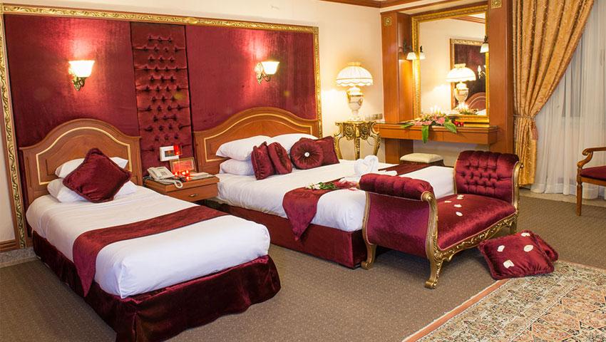 بهترین و لوکس ترین اتاق ها در هتل مدینه الرضا مشهد