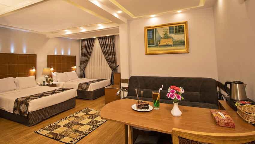 اتاق های لوکس هتل تارا مشهد