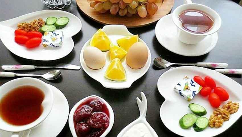 بهترین منوی صبحانه در هتل تارا مشهد