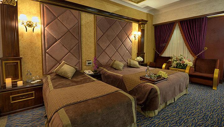 اتاق های هتل بین المللی قصر مشهد