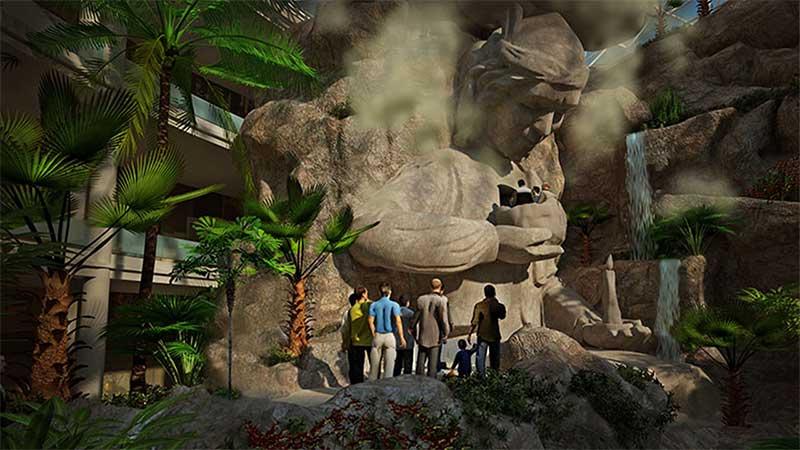 مجسمه پیر خرد مرکز خرید آرمان مشهد