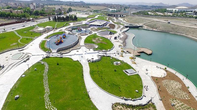دریاچه پارک مینیاتور مشهد