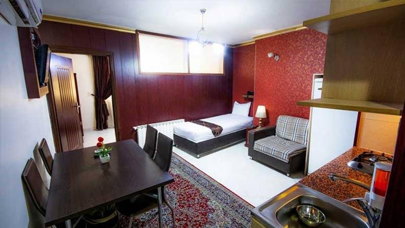 اتاق هتل آپارتمان زمرد مشهد