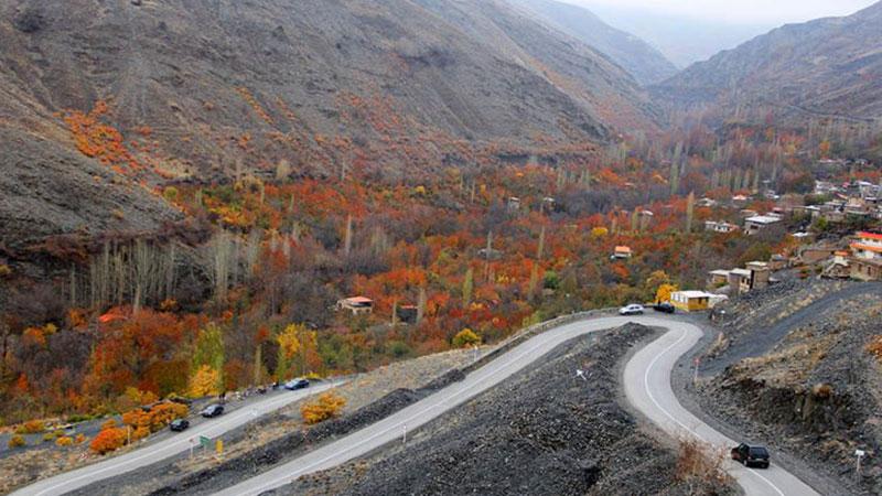 طبیعت جاده روستای دهبار به طرقبه