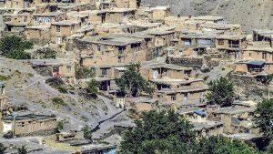 نمای روستای دهسرخ مشهد از بالای روستا