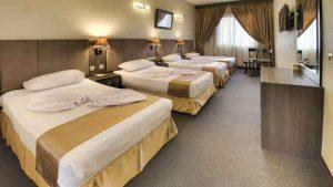 اتاق های 4 تخته هتل کیانا مشهد