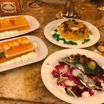 منوی و میز اردور رستوران راستگو شهر مشهد
